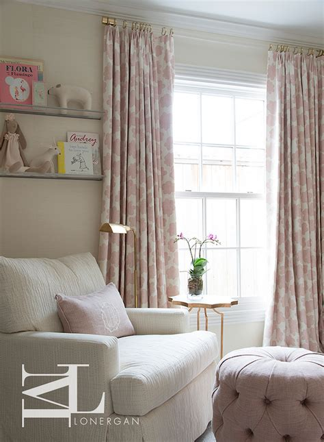 pink and white curtains for nursery pink flower nursery curtains transitional nursery
