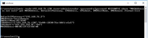 wmic format csv obtener informacion de un sistema remoto con wmic