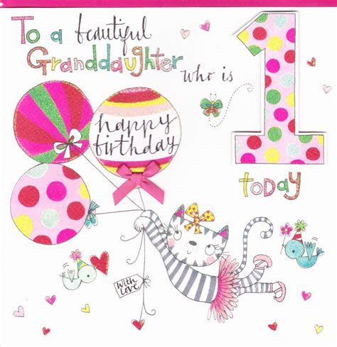 Granddaughter Birthday Card Large Cards Collection Karenza Paperie
