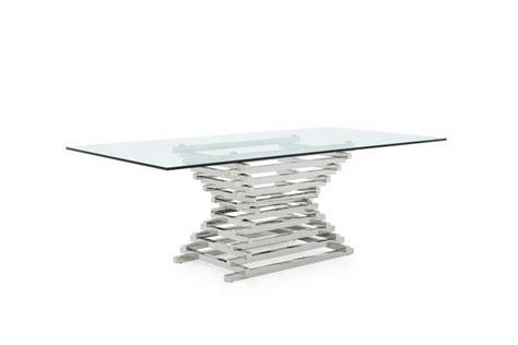 rectangular square glass dining table modrest modern rectangular glass dining table