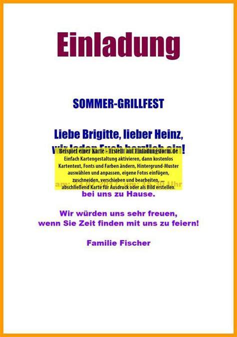 Muster Einladung Firmenfeier einladung zur grillparty
