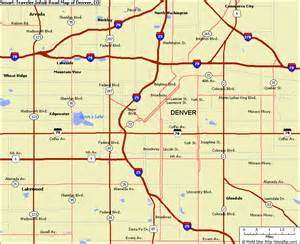 denver map travel map vacations travelsfinders