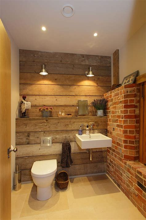 Rustic Bathroom Lights Rugged And Ravishing 25 Bathrooms With Brick Walls