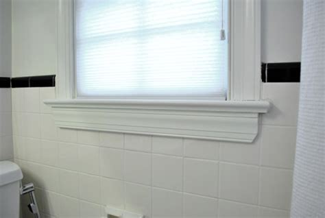 bathroom window trim how to conceal damaged tile young house love