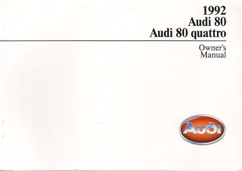 vehicle repair manual 1991 audi 80 transmission control service manual small engine service manuals 1991 audi 80 parking system service manual 1989