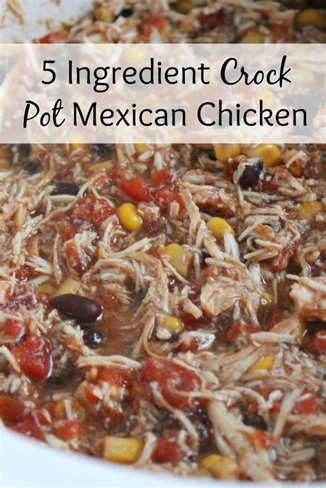 the easy 5 ingredient crock pot cookbook easy delicious crock pot express recipes for fast healthy meals books 5 ingredient crock pot mexican chicken