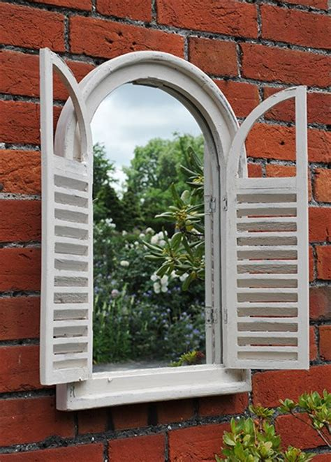 outdoor garden wall mirrors buy garden wall mirror with shutters