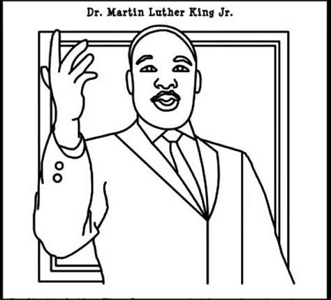 coloring page of dr king free printable martin luther king jr day coloring pages