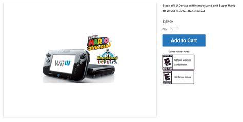 nintendo wii console best price best price for wii u console bundle