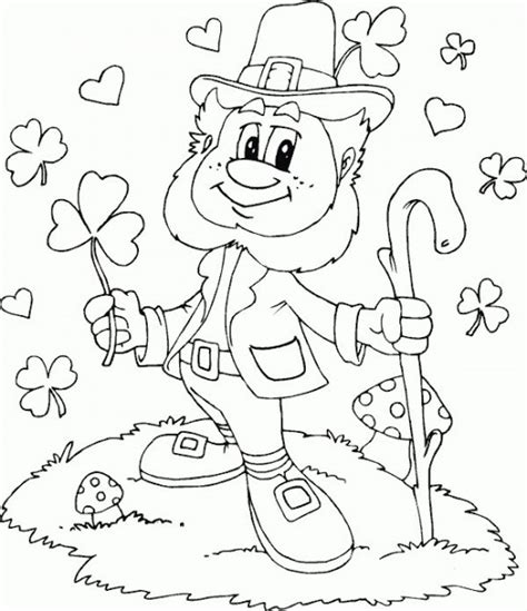 printable leprechaun pattern kids 1000 free