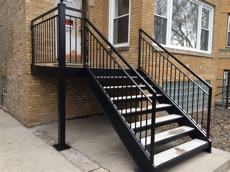 Outside handrails for stairs, chicago wrought iron