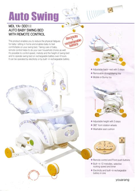 Baby Swing Inquiry baby auto swing bed from youarang co ltd korea