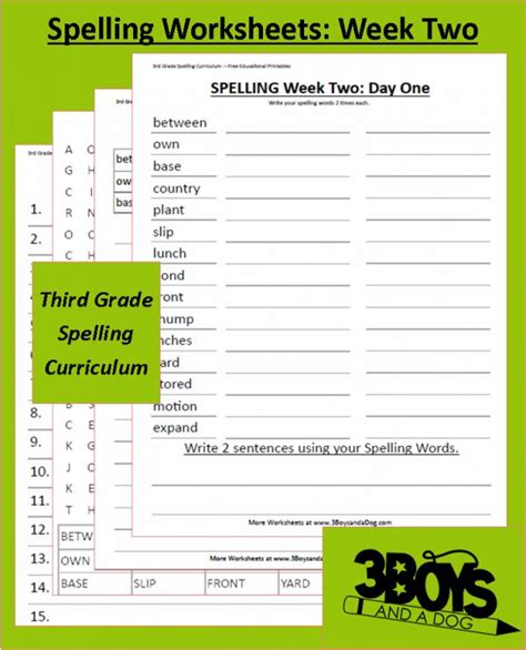 printable spelling games for 3rd grade third grade spelling curriculum week two spelling