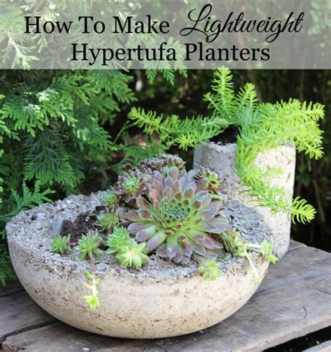How To Make Concrete Planters by How To Make Hypertufa Planters House Of Hawthornes