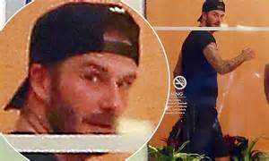 by frances kindon for mailonline david beckham flower david beckham heads to his favourite soulcycle class