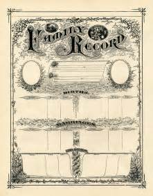 family record template antique ephemera clip printable family record