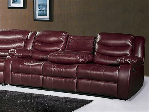 leather motion sectional sofa gramercy 644 motion sectional sofa in burgundy bonded leather