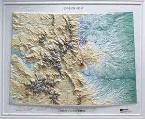 relief map colorado raised relief maps 3d topographic map us state series