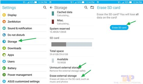 how to format sd card for android how to format sd card on android smartphones