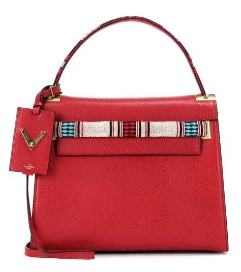 My Shoulder Bag by Valentino Garavani My Rockstud Leather Shoulder Bag In