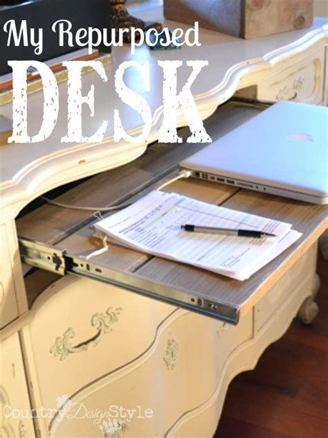 Country Style Working Desk Laptop My Repurposed Desk Country Design Style