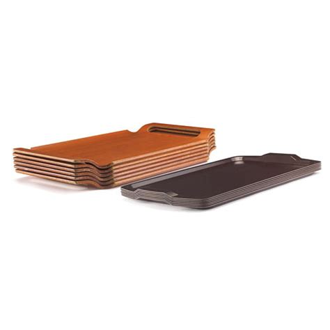 room service trays buy cambro 1525rst376 hotel room service tray 15 1 2 quot x 25 quot walnut at kirby