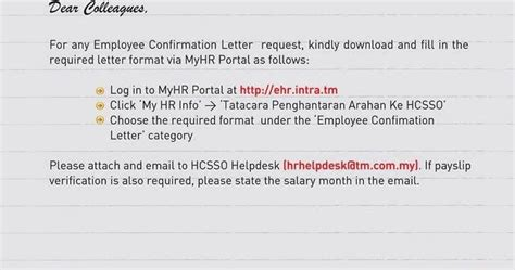 Ignou Confirmation Letter July 2014 Employee Confirmation Letter Request 2014 Unifi Specialist By Tm