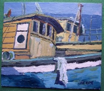 boat auctions cornwall cornwall laid up fishing boats impressionist original oil