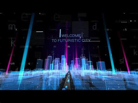 Hologram City Titles After Effects Template Youtube Hologram After Effects Template