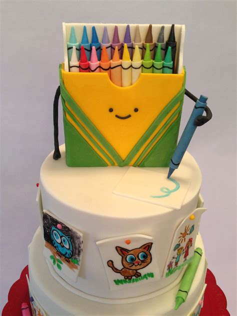 cake doodle ideas crayon box doodle cake cakecentral