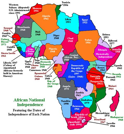 africa map 1960 decolonization in africa ceppes