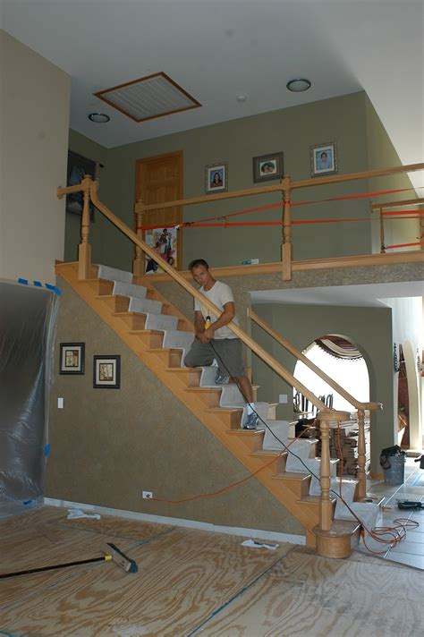 installing a stair banister naperville stairs and railings with iron balusters need