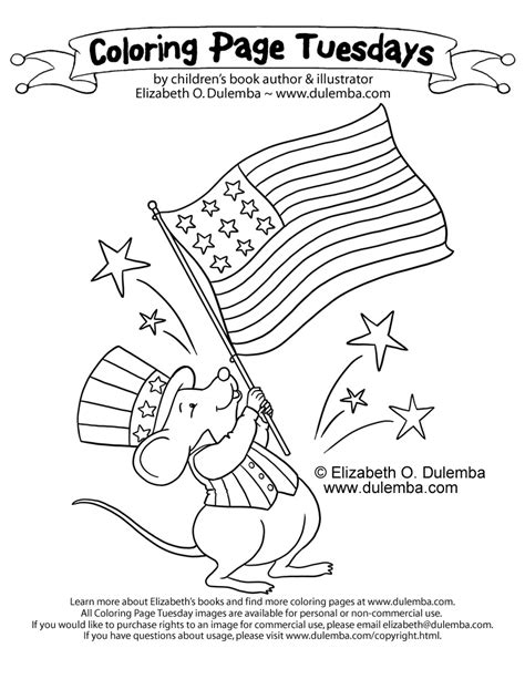 patriotic coloring pages dulemba coloring page tuesday patriotic mouse