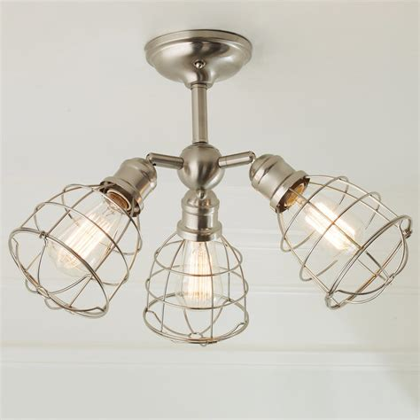 wire cage adjustable ceiling light 3 light shades of light