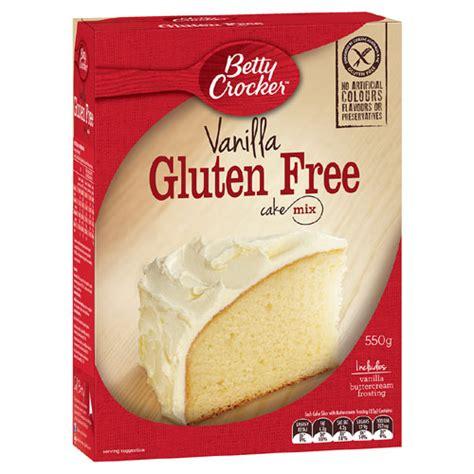 gluten free white cake mix buy betty crocker cake mix vanilla gluten free 550g