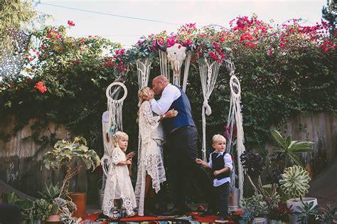 bohemian backyard wedding socal backyard wedding skater bohemian storyboard wedding
