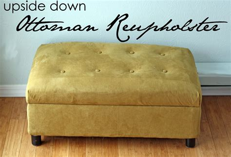 how to recover an ottoman running with scissors ottoman reupholster