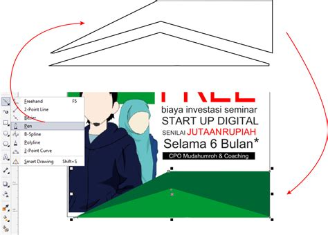 tutorial corel draw brosur tutorial coreldraw membuat brosur open recruitment guru