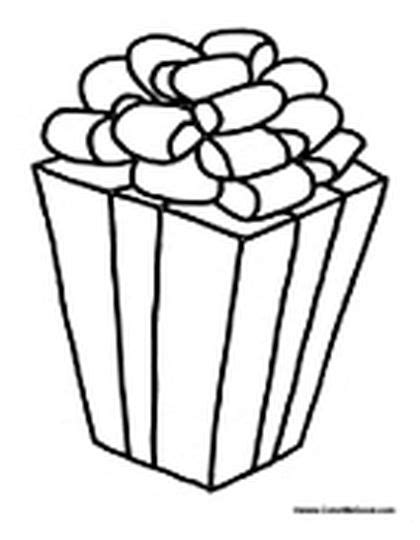 christmas present coloring page part 4 free resource