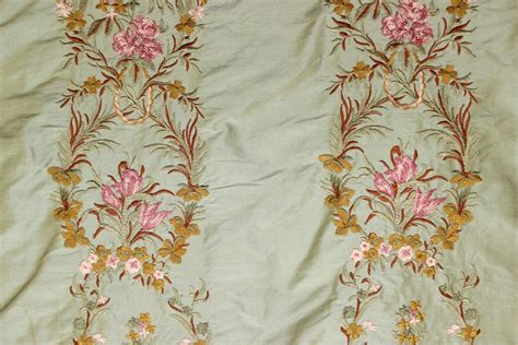 embroidered fabrics silk lisere embroidery green the fabric mill