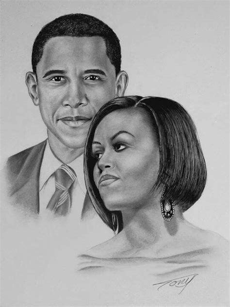 Barack obama and his wife Michelle obama .The best