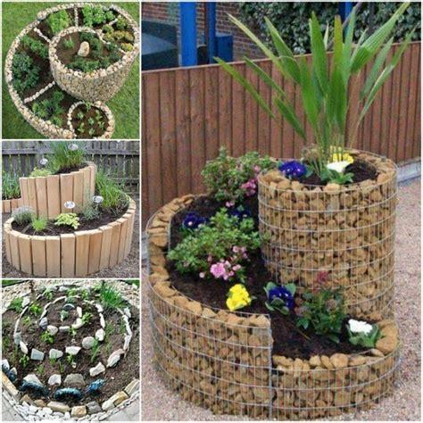 how to build an herb garden spiral herb garden pinterest best ideas easy video