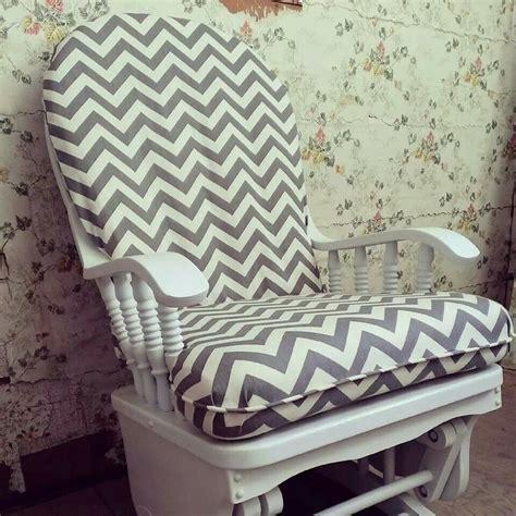 Lulu belle designs refurbished glider rocker handpainted custom cushion covers love