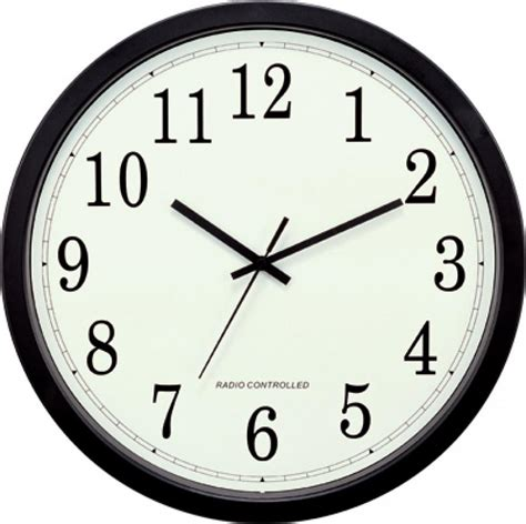 wall clock clockway stretton 14inch atomic analog wall clock plr6212