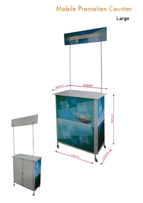 roll up cing table mobile counter metal large
