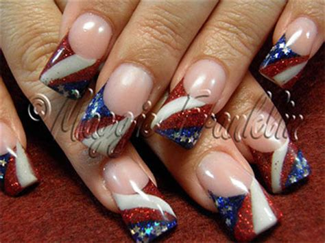 red acrylic 4th of july nils 10 amazing fourth of july acrylic nail art designs ideas