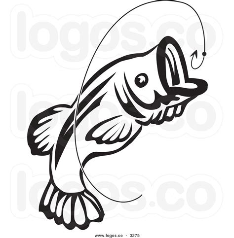 bass clip hook clipart bass fishing pencil and in color hook
