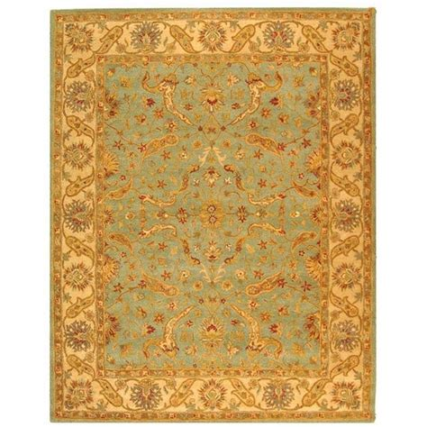 Teal Area Rug Home Depot by Safavieh Antiquity Teal Beige 5 Ft X 8 Ft Area Rug At311b 5 The Home Depot