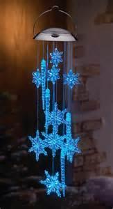 solar power lighted snowflake icicle dangler