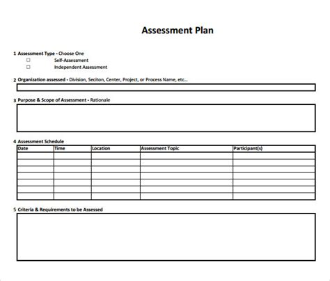 learning and assessment strategy template sle assessment plan 9 documents in pdf